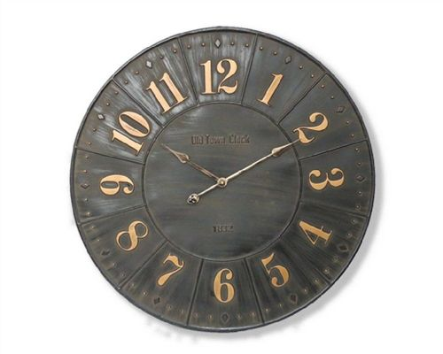 79cm Iron Industrial Wall Clock